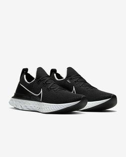 react infinity run flyknit running shoes black