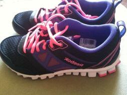 Reebok Realflex Speed 3.0 Running Shoes Big Girls Size  6 &