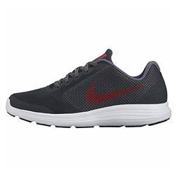 NIKE Boys' Revolution 3  Running Shoe, Black/University red/