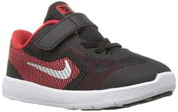 NIKE Boys' Revolution 3 Running Shoe , University Red/Metall