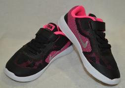 Nike Revolution 3  Black/Silver/Pink Girl's Toddler Running