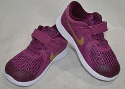 Nike Revolution 4  Tea Berry/Gold Girl's Toddler Running Sho
