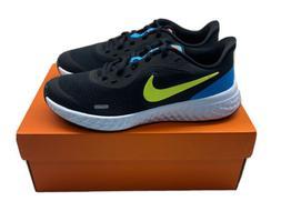 Nike revolution 5 GS  Black/Lemon Venom-Laser Blue Boys Runn