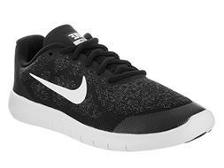 Nike Boy's Free RN 2017  Running Shoe Black/White/Dark Grey/