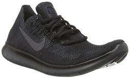 Nike Mens Free RN Flyknit 2017 Running Shoes Black/Anthracit