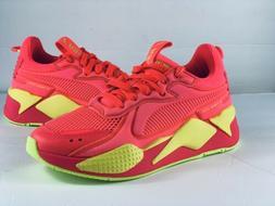 Puma RS-X Soft Case Pink Alert/Yellow Alert Running Shoes Wo