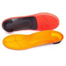 Superfeet Run Pain Relief Insoles, Tangerine, E: 10.5-12 US