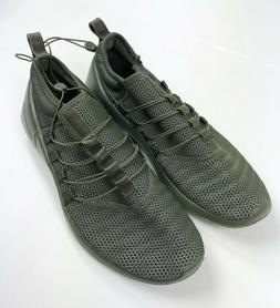 Nike Running Shoes Men's 12.5 Army Green Drawstring Tighteni