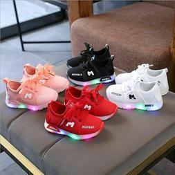 Shoes for Kids Baby Boys Girls Sport Running Flashing Lights