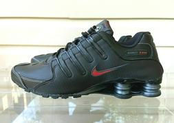 Nike Shox NZ Mens Running Shoes Black Varsity Red BRED 37834