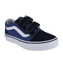 Boy's Vans 'Old Skool V' Sneaker, Size 3 M - Blue