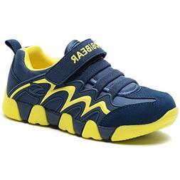 BODATU Boy's Girl's Sneakers Comfortable Running Shoes Navy/