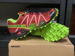 Salomon Speedcross 3 CS Mens Trail Running Shoes Red green A