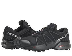 Salomon Speedcross 4 Black/Black Metallic Men's Trail Runnin