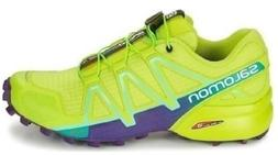 Salomon SpeedCross 4 Trail Running Hiking Shoes Lime Punch 3
