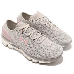 Under Armour SpeedForm Grey Pink Women Running Shoes Sneaker