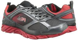 FILA Stride  Sneakers Shoes BLACK/DARK SILVER/ RED RUNNING S