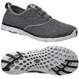 ALEADER Women's Stylish Quick Drying Water Shoes Gray 9 D US