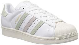 adidas Originals Women's Superstar Shoes Running, White/Line