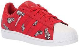 adidas Originals Women's Superstar Shoes Running Scarlet/Whi