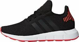 Adidas Swift Run J Black Orange Big Kids Running Shoes New I