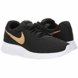 Nike Tanjun Black Gold Running Shoes Youth Size 4 to 7 UNISE