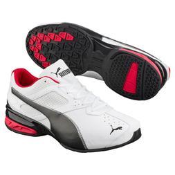 Puma Tazon 6 FM Men's Running Shoes White-Black-puma silver
