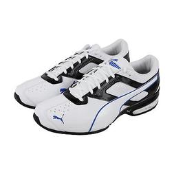 Puma Tazon 6 Fm Mens White Leather Athletic Lace Up Running
