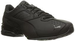 PUMA Men's Tazon 6 Fracture FM Sneaker, Black, 11.5 M US