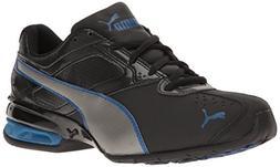 PUMA Tazon 6 SL Jr-K Sneaker, Black-Aged Silver, 4 M US Big