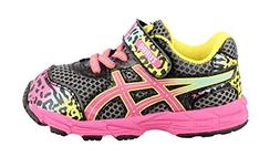ASICS Turbo TS Running Shoe , Charcoal/Rainbow/Cheetah, 4 M
