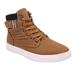 Boomboom Unique Style Men Casual High Top Oxfords Sneakers S