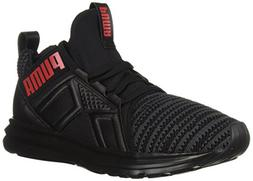 PUMA unisex-kids Enzo Jr Sneaker, Black-Asphalt, 5 M US Big