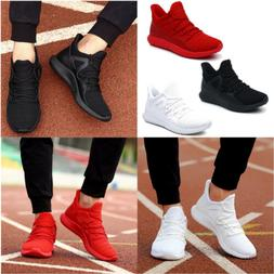 US Men's Running Shoes Breathable Mesh Sneakers Sport Casual