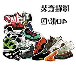 40 running sports shoes vinyl stickers cheap stickers