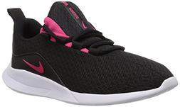 NIKE Girls' Viale  Running Shoe, Black/Rush Pink-White, 3.