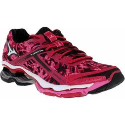 Mizuno Women's Wave Creation 15 Pink/Black/Pink Ankle-High F