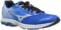 Mizuno Wave Rider 18 Junior Kids Running Shoe , Electric Blu