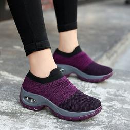 Women Air Cushion Sneakers Fashion Breathable Mesh Hiking Sl