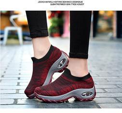 Women Fashion Air Cushion Running Sneakers Breathable Mesh W