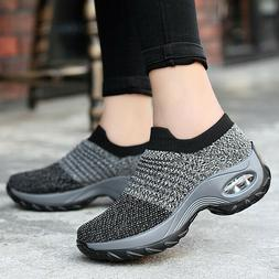 Women Fashion Air Cushion Sneakers Athletic Outdoor Slip-On