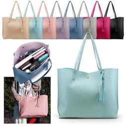 Women Synthetic Leather Handbag Shoulder Ladies Purse Messen