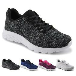 Jabasic Women's Breathable Knit Sports Running Shoes Casual