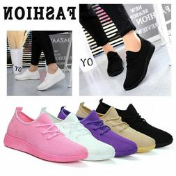 Women's Fashion Leather Casual Breathable Running Lace Up Sn