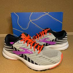 Women's Brooks Launch 6 Size 6.5 Grey / Purple Running Shoes