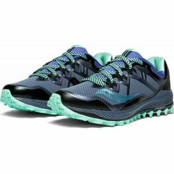 Saucony Women's Peregrine 8 Trail Running Shoes Grey/Violet/