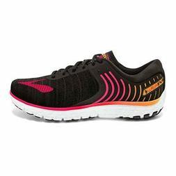 Brooks Women's PureFlow 6 Running Shoe, Black/Diva Pink, 6.5