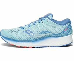 Saucony Women's Ride ISO 2 Running Shoes Size 6 Blue/Coral
