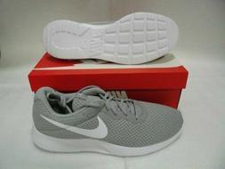 Women's Tanjun Running Shoes Wolf Grey/White Size 5 Free Shi