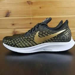 Nike Women's Zoom Pegasus 35 Black/Gold Running Shoes # 9428